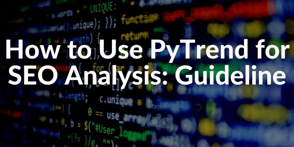 Pytrend SEO Usage