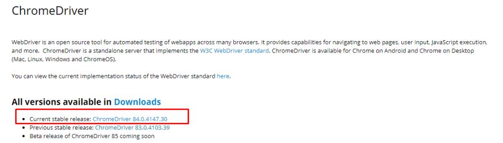 Chrome Driver Downloading