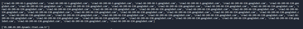 DNS Reverse Lookup via Python