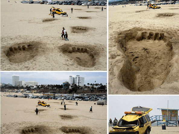 Guerilla Marketing example for King Kong 3D Movie