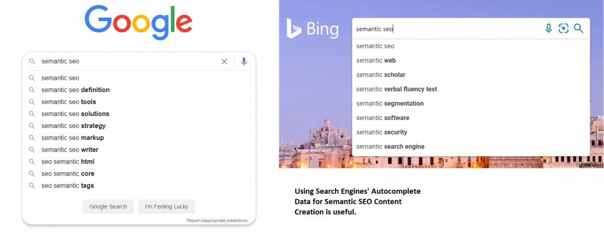 Autocomplete and Semantic SEO