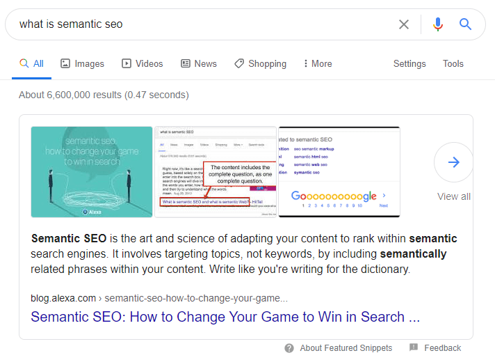 Semantic SEO and Featured Snippets