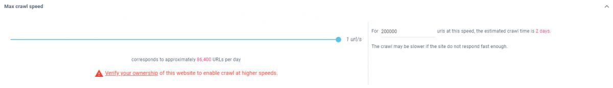 Crawl Speed