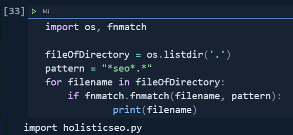 List and Filter Files with Directory
