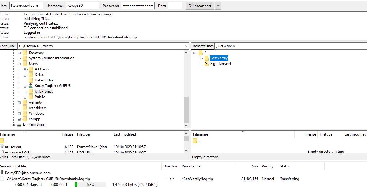 FTP Log File Analysis.