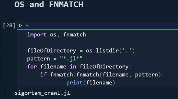 Listing Files in a directory