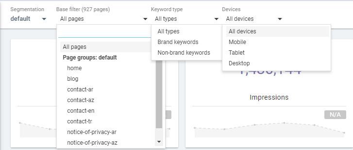 SEO Crawl and Google Search Console Data