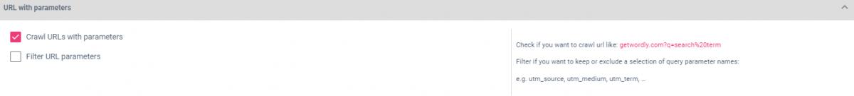 URL Parameters Configuration