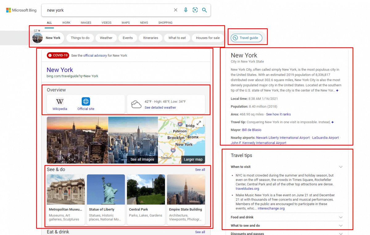 Bing Semantic Search