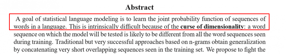 Abstract for Neural Probabilistic