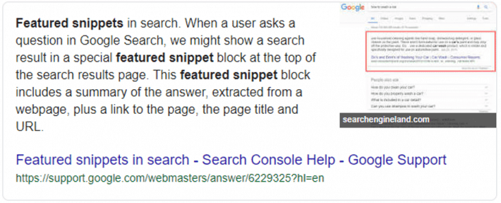 Featured Snippet and Natural Language Processing