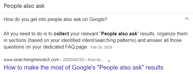 Question Generation by Search Engine