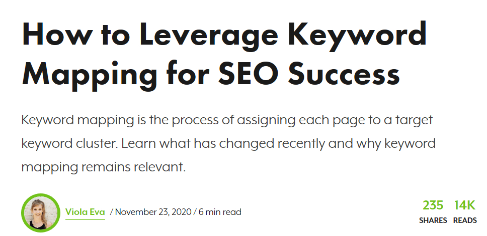 Keyword Mapping Article