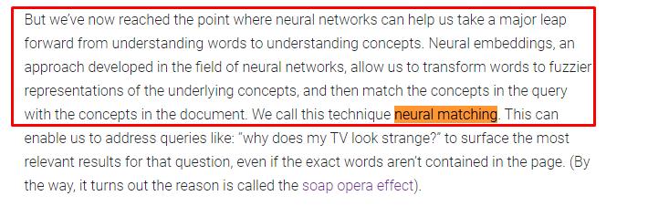 Neural Matching