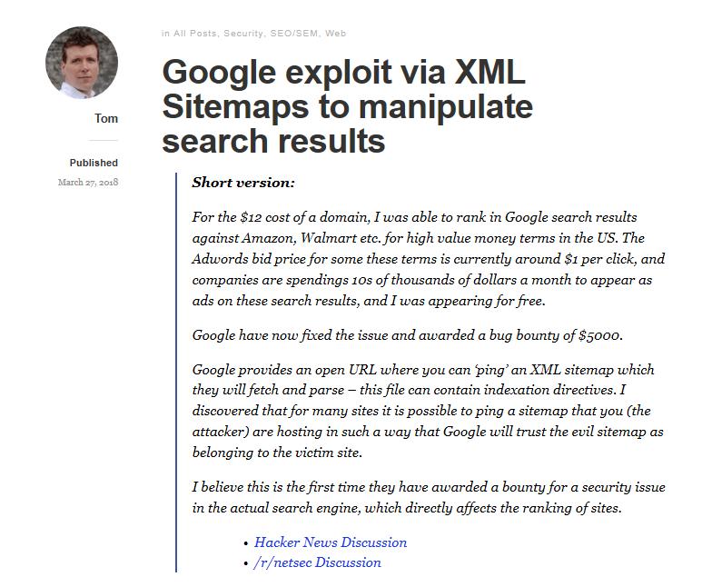 Sitemap Exploit