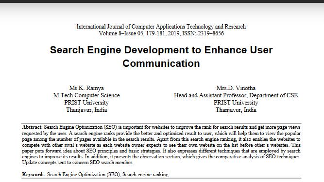 Search Engine Communication