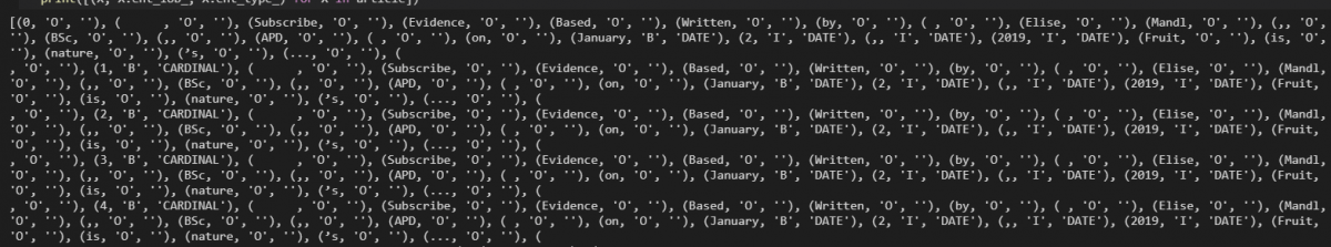 Extracting entities and entity types from content