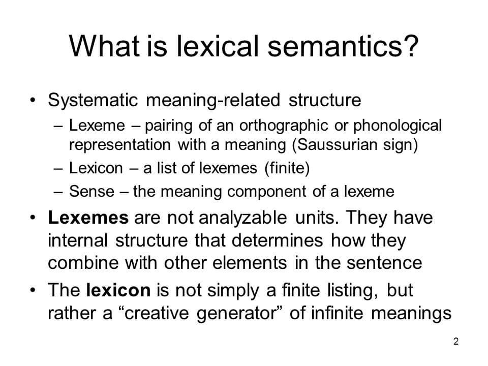 Lexical Semantics and Named Entity Recognition