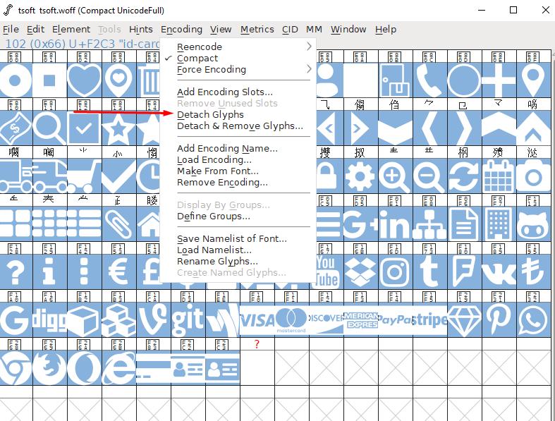 Font File Glyph Clean