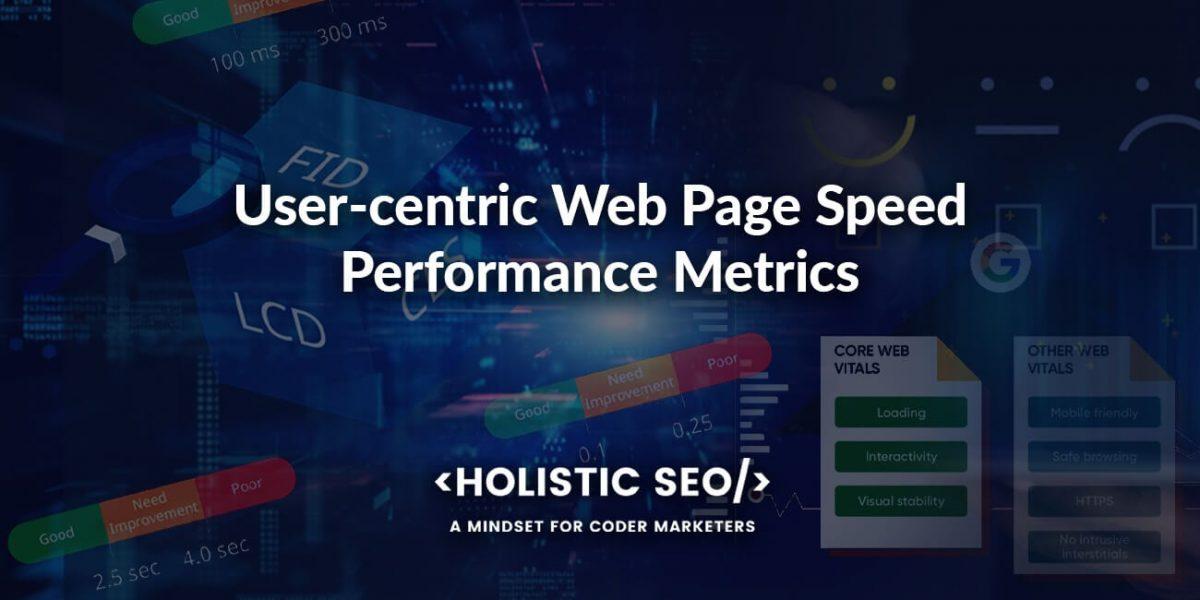 User Centric Performance Metrics